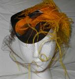 vintage hat with bird feathers