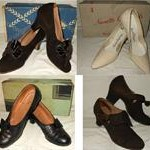 vintage shoes with boxes