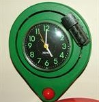 green novelty clock
