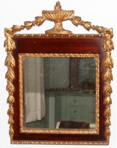 mirror with gesso decoration