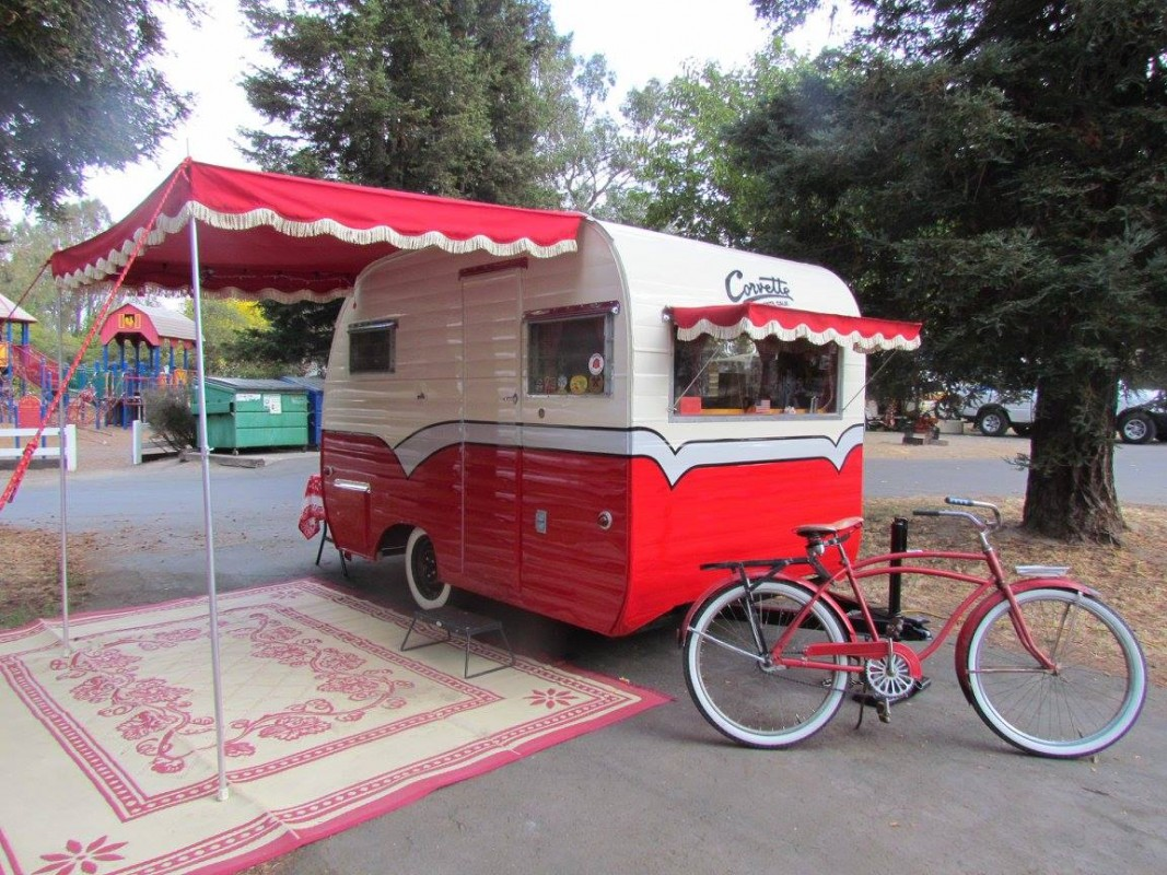 Creative Pin Old Camper Trailers Camper Upholstery Camper Awnings Camper On